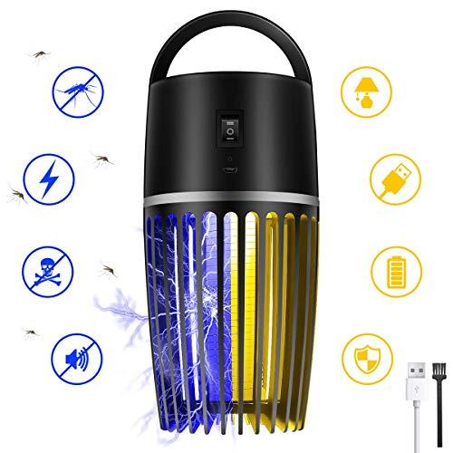 Mayepoo Insektenvernichter elektrisch, Licht UV- Mückenlampe, hängbarer Moskito Killer, USB-Buchse, Anti-Schock, 2 Modus Lichte, geeignet für Camping&Zimmer, Anti-Mücken/Insekten/Moskito