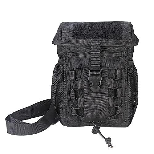 Vmokki Molle Tasche Taktische Schultertasche Zusatztasche für Rucksack Fahrrad Multifunktional Crossbody Umhängetasche Fahrradtasche (Schwarz)