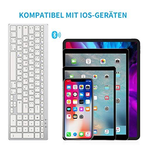 OMOTON Bluetooth Tastatur für iPad 10.2 (8. Generation) 2020/iPad 10.2 2019, iPad Air 4. Generation 2020/iPad Air 3/2/1, iPad Pro 11/12.9 (2018/2020), iPad Pro 10.5, iPad Mini 5/4/3, weiß