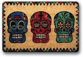 Day Of The Dead-Candy-Skulls Doormat Rug Indoor/Outdoor Door Mats Home Decor 23.6