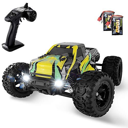 BEZGAR 1:16 Large Size Off Road Remote Control Fast Racing Hobby Car, Hobbyist Grade 4x4 Waterproof RC Car High Speed Electric Monster Toy Vehicle Truck with Rechargeable Batteries for Adults