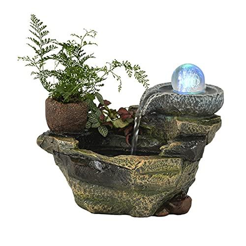 Fuente de Agua Fuente de la fuente de la fuente de la fuente de la fuente de la fuente de la fuente de la fuente de escritorio con la bola de cristal de giro liviano duradero para la oficina en casa