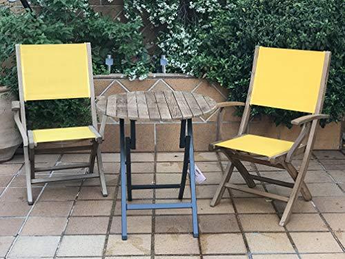 Giardino Set of Beer Table and 2 Chairs Bari