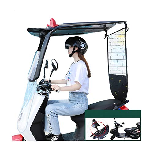 QYQYMJ Funda Impermeable Y A Prueba De Lluvia para Scooter, Capota De Motocicleta, Adecuada para Vehículos Eléctricos con Espejos Retrovisores (Size : No Side Block)