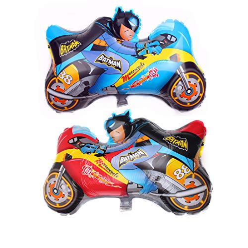 Morndew 2 PCS Batman Ride Motorcycles Foil Balloons for Kids Themed Party Birthday Party Baby Shower Wedding Party Decorations