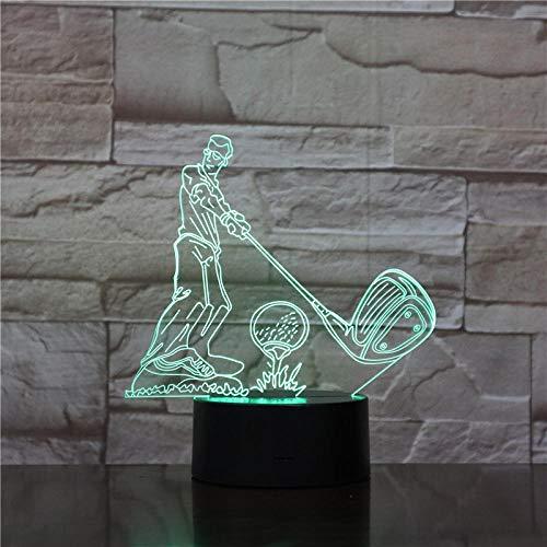 Lampka nocna 3D do gry w golfa, 3D, dotykowa LED, 7 kolorów, czujnik zmiany kolorów, 3D, Night Light, Home Room Decoration Lampa na biurko Best Child Gift Suitable for birthday Gifts for Kinder