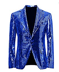 Royal Blue/C Splendid Sequins Lapel Tuxedo Jacket