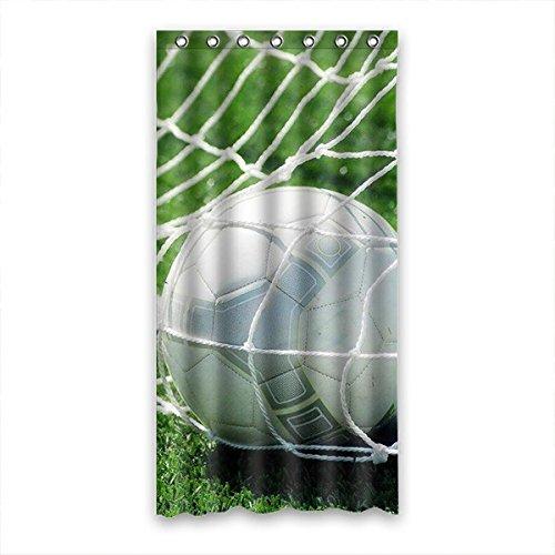 DOUBEE Personalisiert Fußball Soccer Wasserdicht Polyester Duschvorhänge Shower Curtain 90cm x 183cm