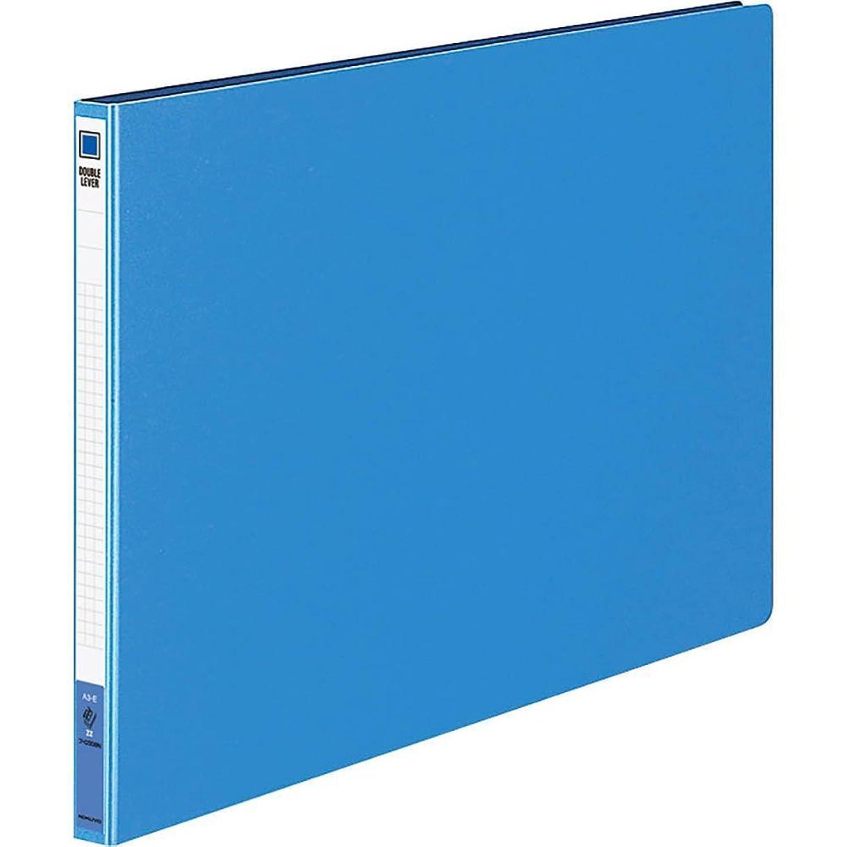 クラッチけがをする適応コクヨ ファイル ダブルレバーファイル Z式 A3横 青 フ-D308NB
