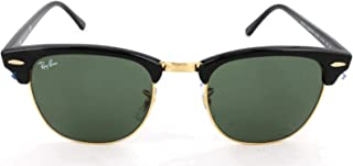 Ray-Ban CLUBMASTER - EBONY/ARISTA Frame CRYSTAL GREEN Lenses 51mm Non-Polarized