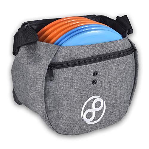 Easy Bag - Disc Golf Starter Bag Holds 8 to 10 Discs (Grey)