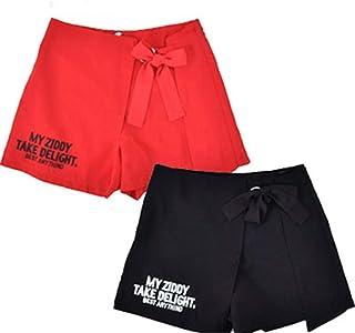 ZIDDY(ジディー) クレープツイルリボン付きスカートパンツ★1230-12515