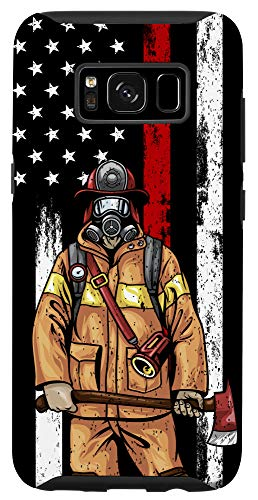 Galaxy S8 USA Flag Firefighter Gifts American Fireman US Fire Fighter Case