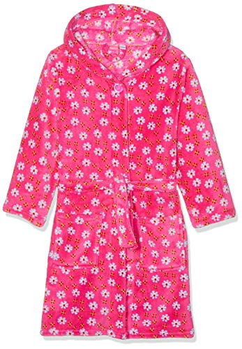 Playshoes M dchen Fleece-bademantel Blumen Bademantel, Rosa (Pink 18), 134-140 EU