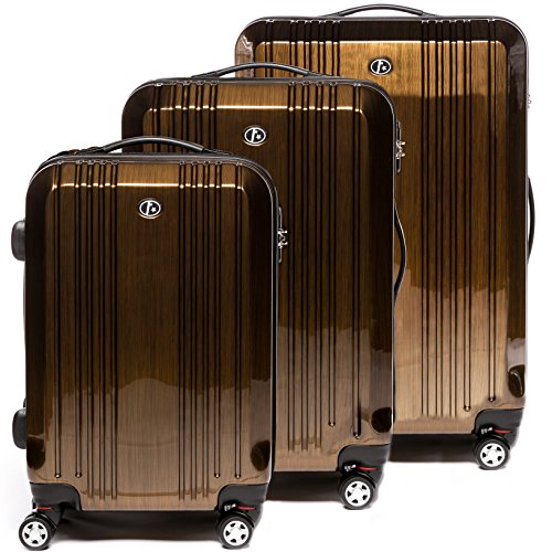 FERGÉ Juego de 3 maletas de viaje CANNES Trolley funda rígida 4...