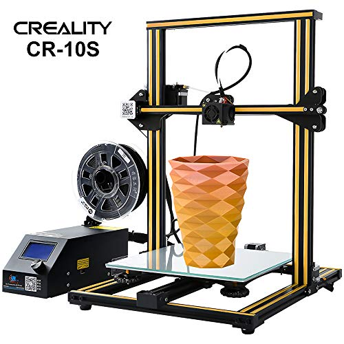 Creality 3D CR-10S 3D Printer 300X300X400mm Large Size Desktop DIY Printer, Open Source Upgraded Nozzle Heatbed Volume with Dual Z Axis Ultra-Quiet Printing Filament Runout Detection and Recovery