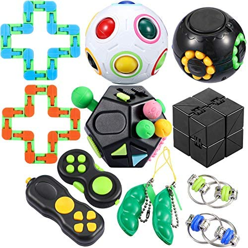 12 Pieces Sensory Fidget Toys Set Relieves Stress and Anxiety Fidget Toy for Teens Adults Magic product image