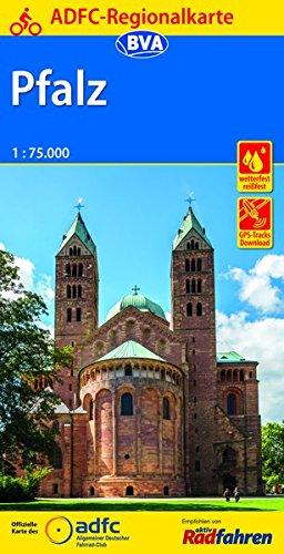 ADFC-Regionalkarte Pfalz mit Tagestouren-Vorschlägen, 1:75.000, reiß- und wetterfest, GPS-Tracks Download (ADFC-Regionalkarte 1:75000)