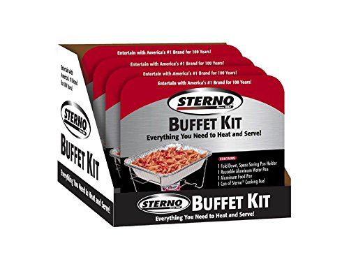 Sterno Buffet Kit, Half, Silver