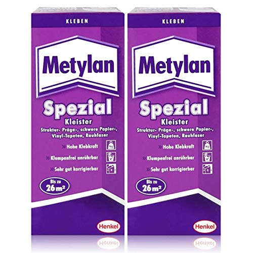 Henkel Metylan Spezial Tapetenkleister mit extra Power 200g (2er Pack)