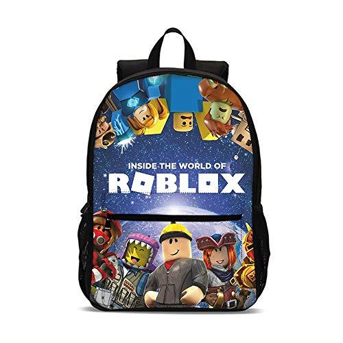 QWEIAS Mochila para niños - Roblox 3D Toddler Kids Mochila Escolar para niños pequeños - Rucksack para 3-10 años – Regalos de la Escuela Primaria A