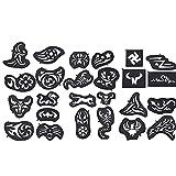 25 unids/pack Pelo en forma de cabello Conjunto de moldes Temporal Pelo Stencil Suministros PROFESIONALES Corte de pelo Suministros Pelo Colorante Herramienta Herramienta Peluquería Peluquería