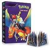 Álbum Pokemon Cartas, Caja Cartas Pokemon, Carpeta de Titular de Tarjetas de Pokemon, Álbum cartas coleccionables, Cartas Pokemon gx ex La Mejor Protección. (Ash&Charizard)