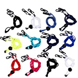 12 Pcs Face Lanyards for Women Very Soft Safety Face Holder & Hanger Short Colorful Comfortable Around The Neck