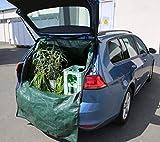 EASYmaxx Kofferraum-Wanne Transport-Sack Grün Garten-Abfall Laub-Sack Rasen Müll