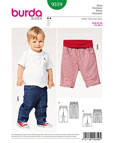 Burda 9359 Schnittmuster Hose mit Elastikbund (Kids, Gr. 62-98) Level 2 leicht