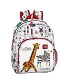 Algo de Jaime Mochila pequeña Adaptable Carro, Blanco + Multicolor, Única (611955609)