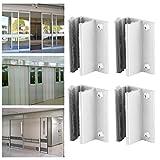 Guía de puerta de inducción, tope de oscilación de puerta resistente a la abrasión, resistente a ácidos alcalinos para montaje en el piso Puertas de vidrio sin marco