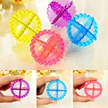 5 Pieces/Each Washing Machine Ball Dryer Dryer Fabric Softener Assistant Cleaner Magic Laundry Ball (Color : Color Random)