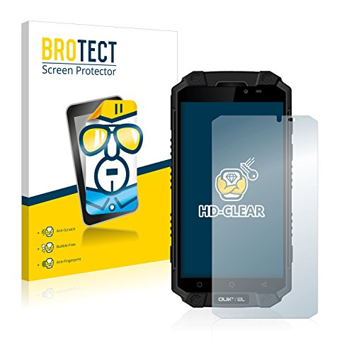 BROTECT Schutzfolie kompatibel mit Oukitel K10000 Max (2 Stück) klare Bildschirmschutz-Folie