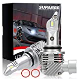 【令和2年最新モデル】SUPAREE HB3 HB4 led ヘッドライト 新車検対応 12000LM 40W 12V/24V車対応(ハイブリッド車・EV車対応) ホワイト 6500K ファンレス 爆光 フォグランプ 2個入 3年保証