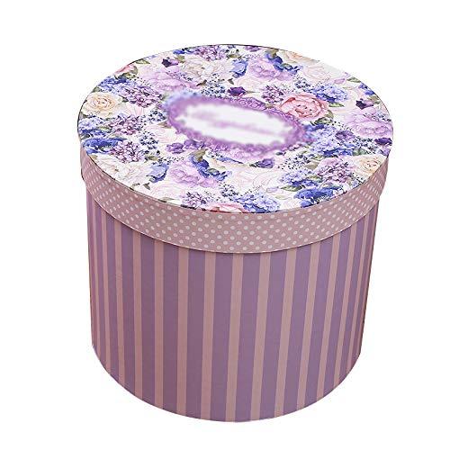 Warmhouse Caja De Regalo De Cubo De Abrazo Redondo, Caja De Regalo con Textura, Ahorrar Espacio, para Regalo De Empresa, Graduación, Navidad-B-M