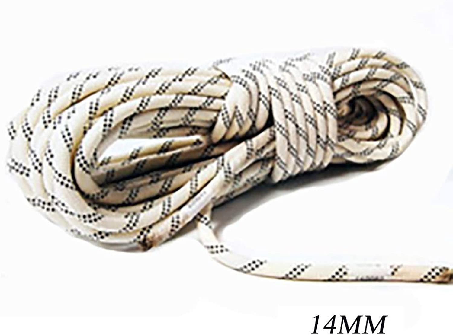 Static Ropes Outdoor Mountaineering Rappelling Rope Nylon wearResistant Climbing Safety Rope Φ14MM (0.55mm) White Black