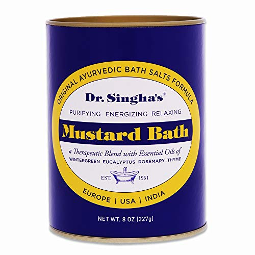 Dr. Singha's Mustard Bath, Therapeutic Bath Salts (8 Ounce)