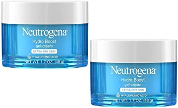 Hydro Boost Hyaluronic Acid Hydrating Face Moisturizer Gel-Cream to Hydrate and Smooth Extra-Dry Skin, 1.7 oz -2 Pack
