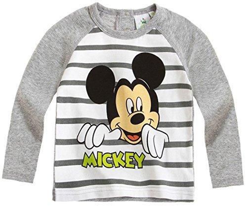 Tee shirt manches longues bébé garçon Mickey Rayé gris/blanc de 3 à 23mois (6mois)