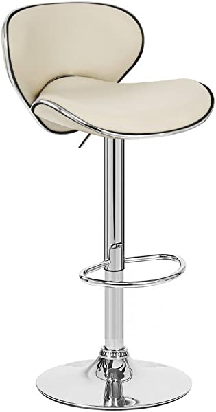 Modernhome Kappa Contemporary Adjustable Barstool Caf Latte