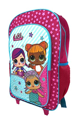 New Children's Character Deluxe Wheeled Trolley Suitcase-Back Pack, Travel Bag, School Bag (LOL)