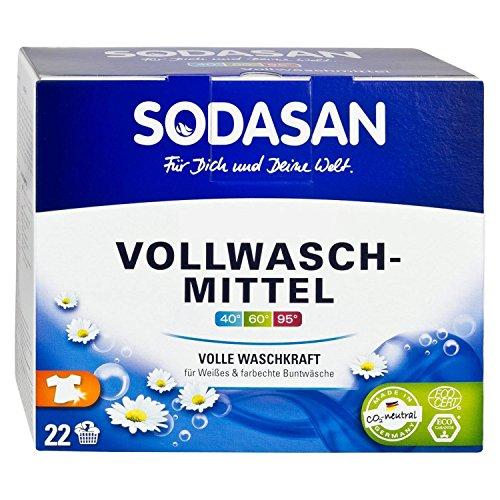 SODASAN Bio Vollwaschmittel 5kg, Bio Vollwaschmittel Pulver ohne Enzyme