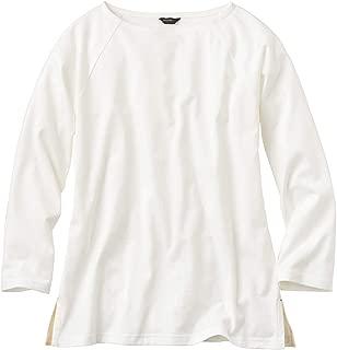 (エディー・バウアー) Eddie Bauer レディース 七分袖Tシャツ ブレスレットスリーブボートネックTシャツ