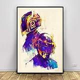 RQJOPE Dekorative Malerei Daft Punk Malerei Kunst Leinwand