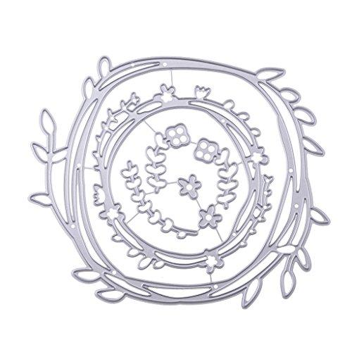 sayletre Stanzformen, Kranz Stanzformen Metall Präge Stanzschablone Vorlage für Scrapbooking DIY Album Fotopapier Karten Kunst Bastelbedarf Wohnkultur