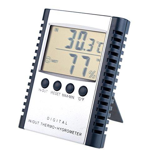 amazingdeal365Digital pantalla LCD Medidor de temperatura humedad termómetro higrómetro