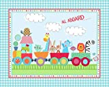 All Aboard Animal Train Pre-Quilted Panel 01