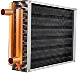 Water to Air Heat Exchanger 20x20 with Copper Ports for Outdoor Wood Furnaces, Residential Heating and Cooling, and Forced Air Heating (20x20)