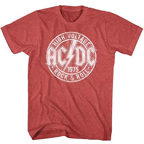 ACDC Heavy Metal Rock Band High Voltage Rock & Roll T-Shirt für Erwachsene, rot, XX-Large